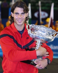 Australian Open 2009 Men's Champion Rafael Nadal