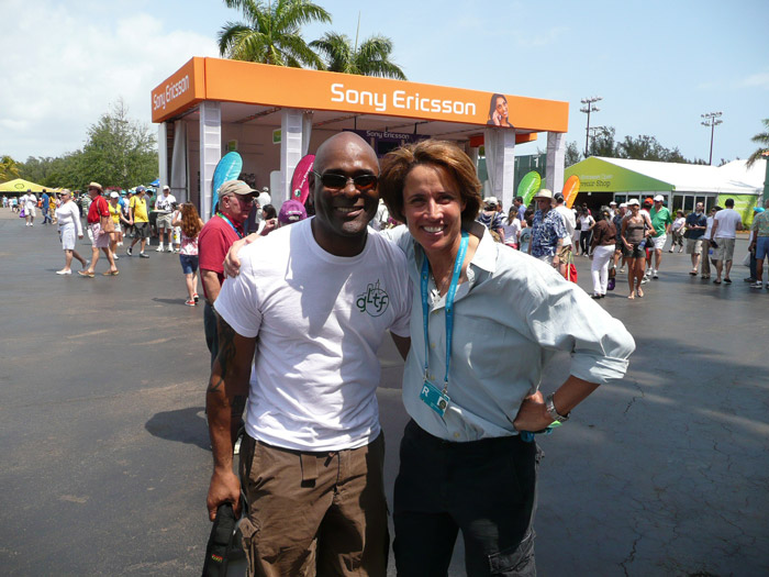 With Mary Carillo at the Sony Ericsson Open in Key Biscayne, FL